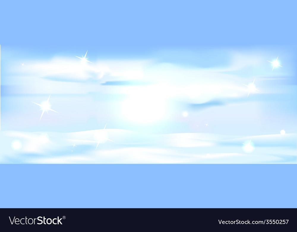 Snowy winter landscape banner - horizontal vector   Price: 1 Credit (USD $1)