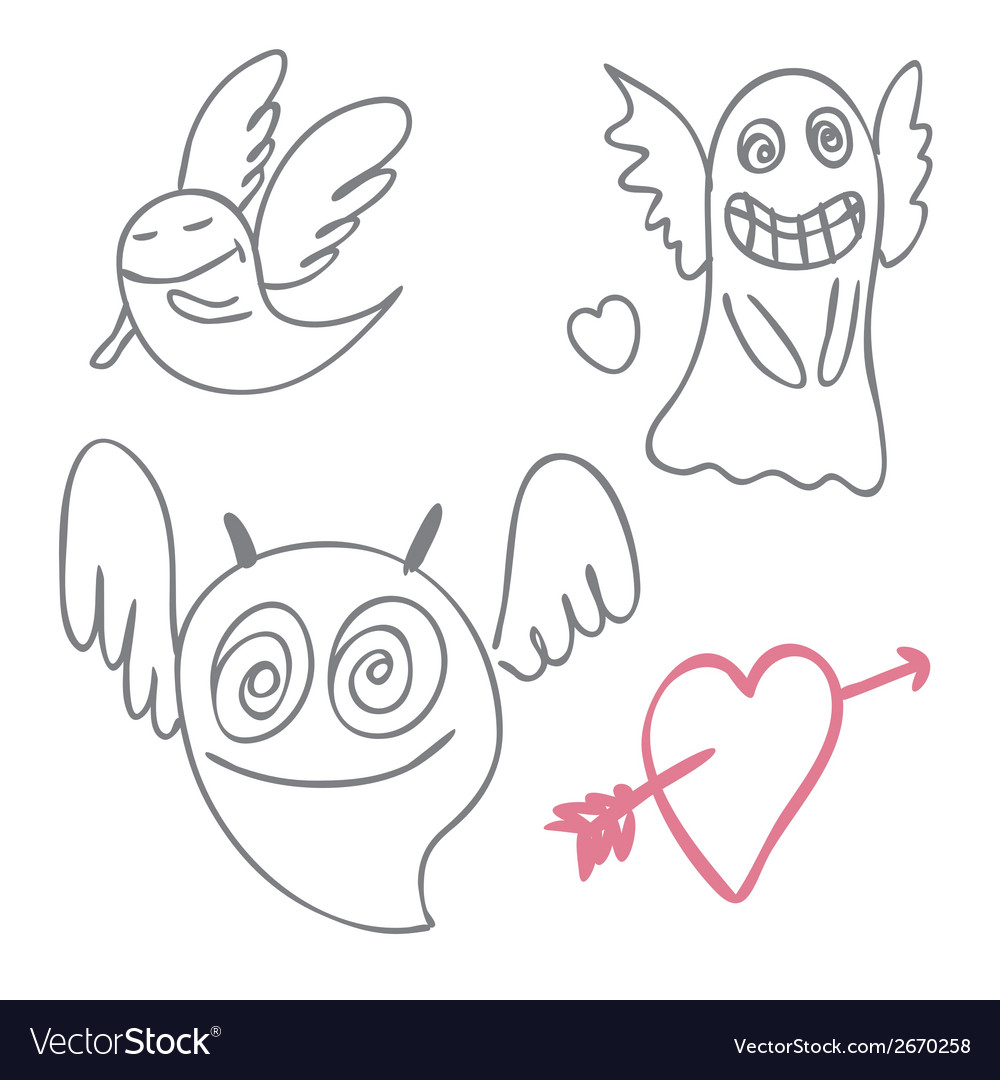 Amusing ghosts vector | Price: 1 Credit (USD $1)
