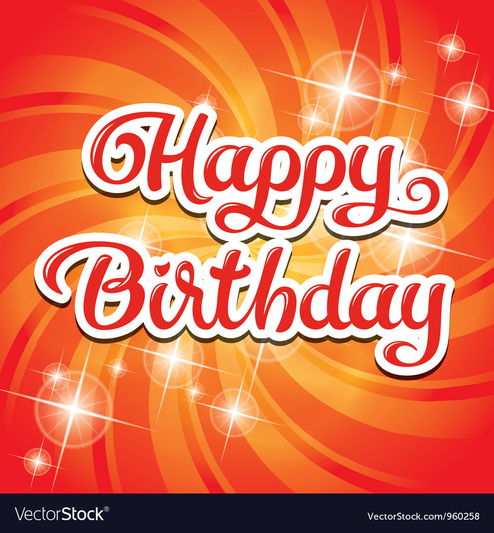 Birthday card inscription vector | Price: 1 Credit (USD $1)
