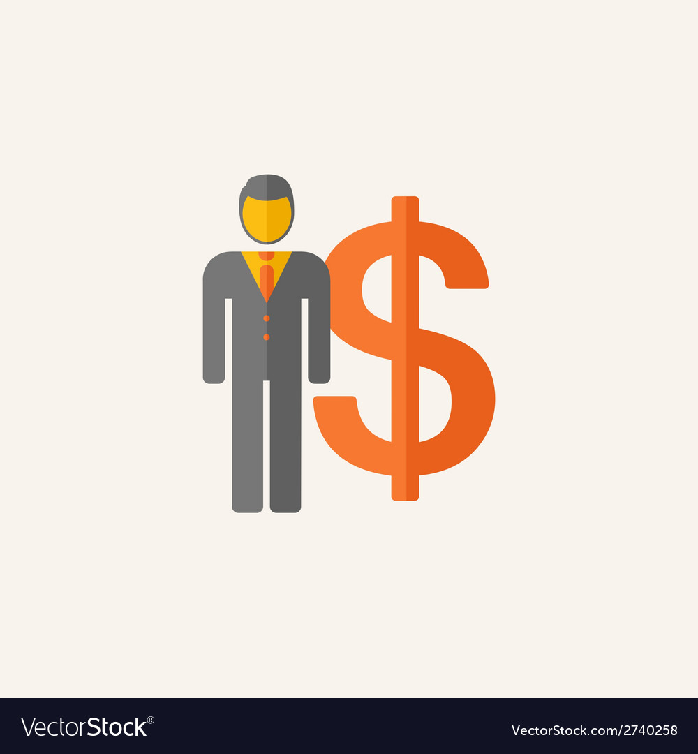 Business flat icon vector   Price: 1 Credit (USD $1)