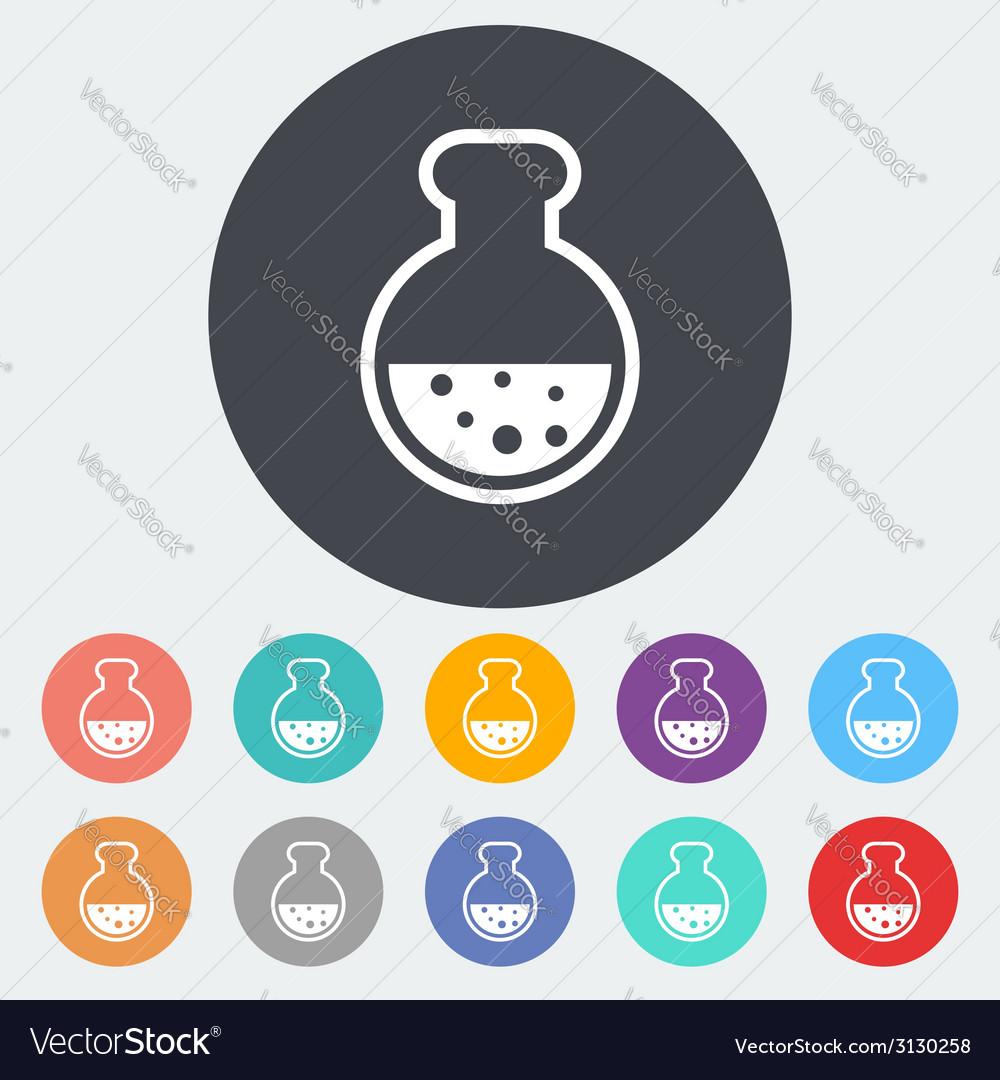 Chemisty flat icon vector | Price: 1 Credit (USD $1)