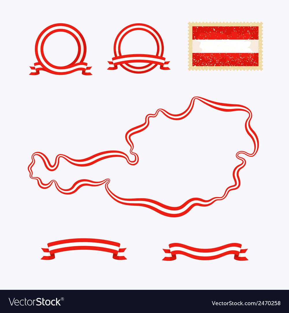 Colors of austria vector | Price: 1 Credit (USD $1)