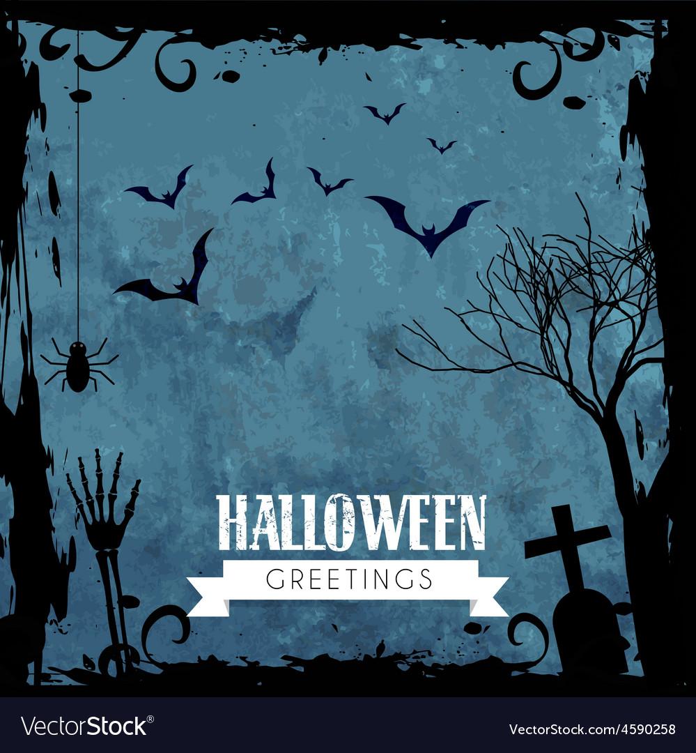 Creepy halloween design vector | Price: 1 Credit (USD $1)