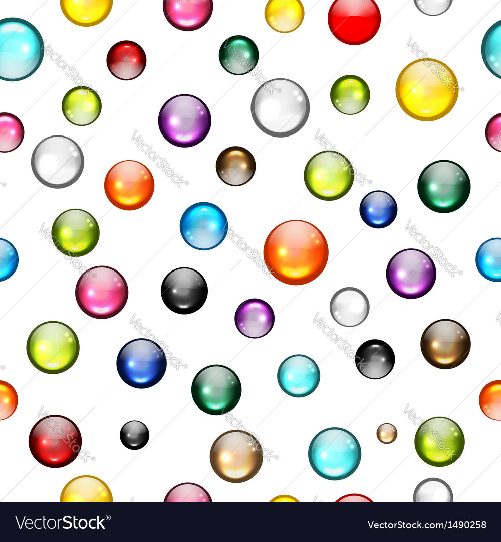 Glossy balls seamless pattern for your design vector | Price: 1 Credit (USD $1)