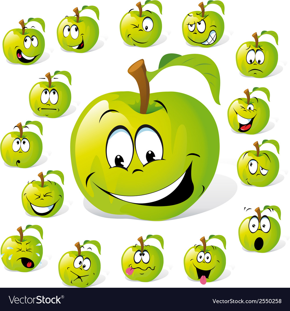 Green apple vector | Price: 1 Credit (USD $1)