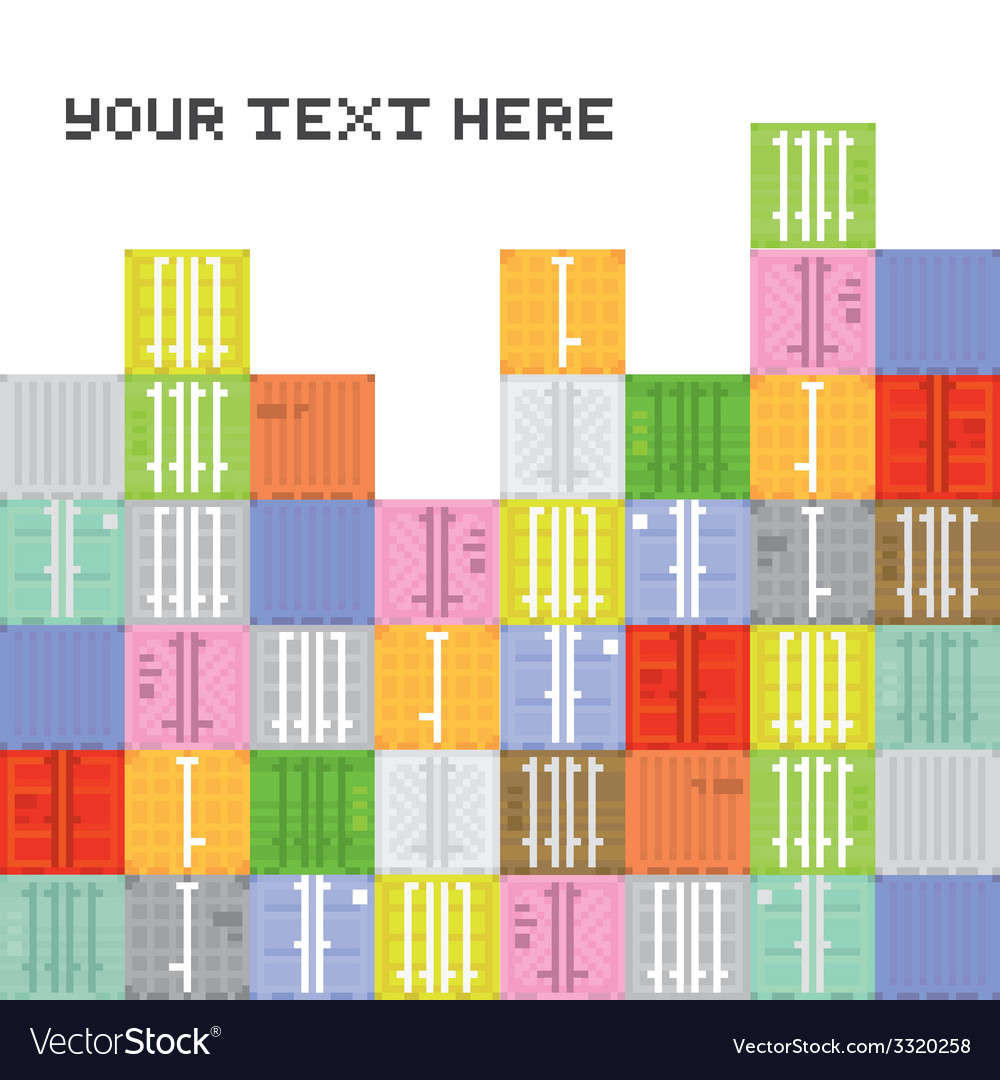 Pixel art container stack vector | Price: 1 Credit (USD $1)