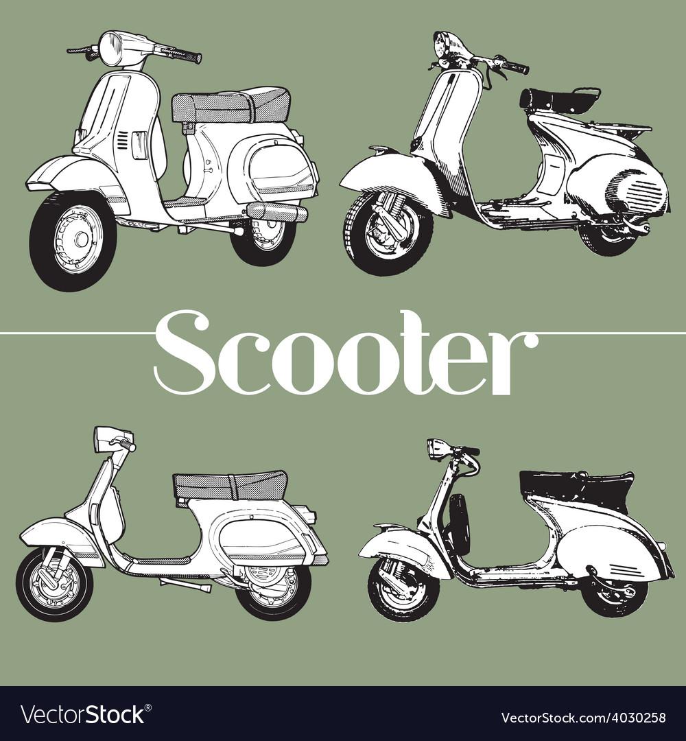 Scooter symbol mod lambretta vespa vector   Price: 1 Credit (USD $1)