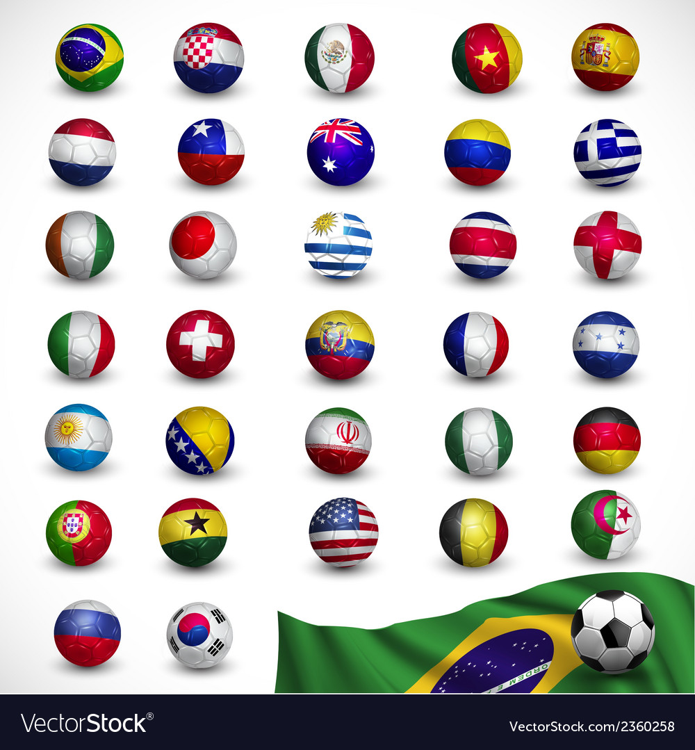 Soccer ball football with flag vector | Price: 1 Credit (USD $1)
