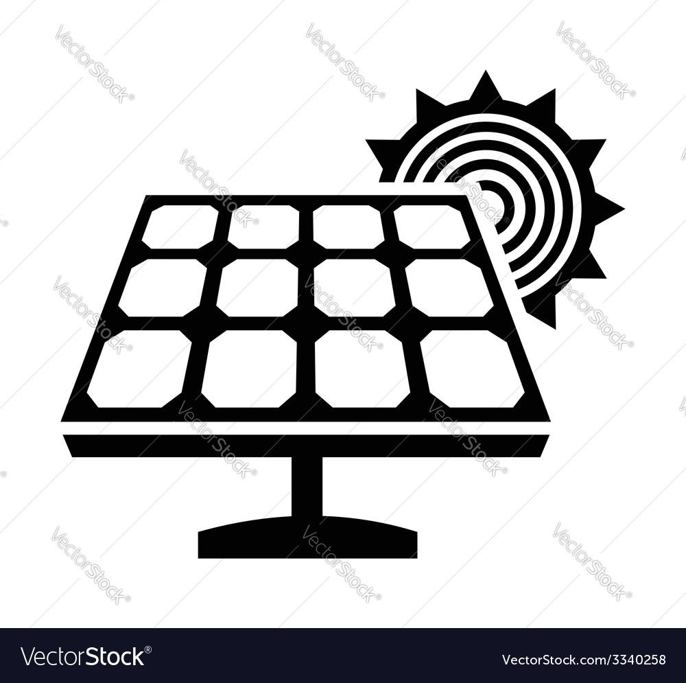 Solar panel icon vector | Price: 1 Credit (USD $1)