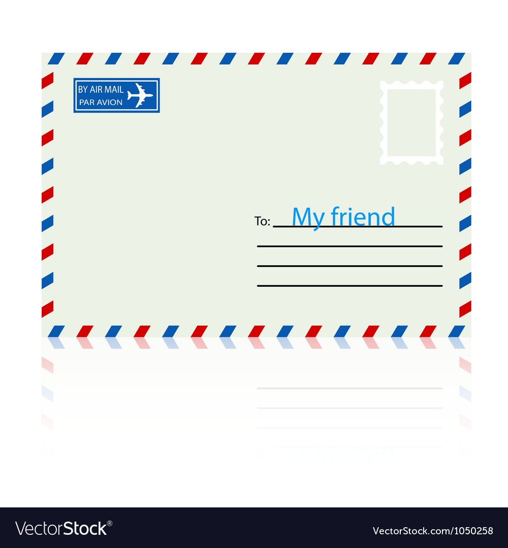 White envelope with stamp vector | Price: 1 Credit (USD $1)