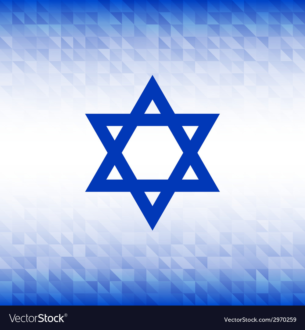 Abstract background using israel flag colors vector | Price: 1 Credit (USD $1)