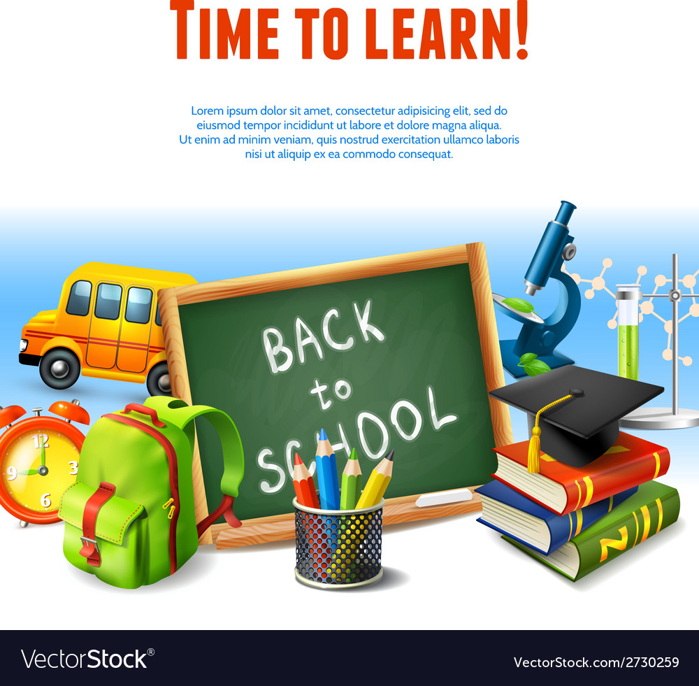 Back to school border vector