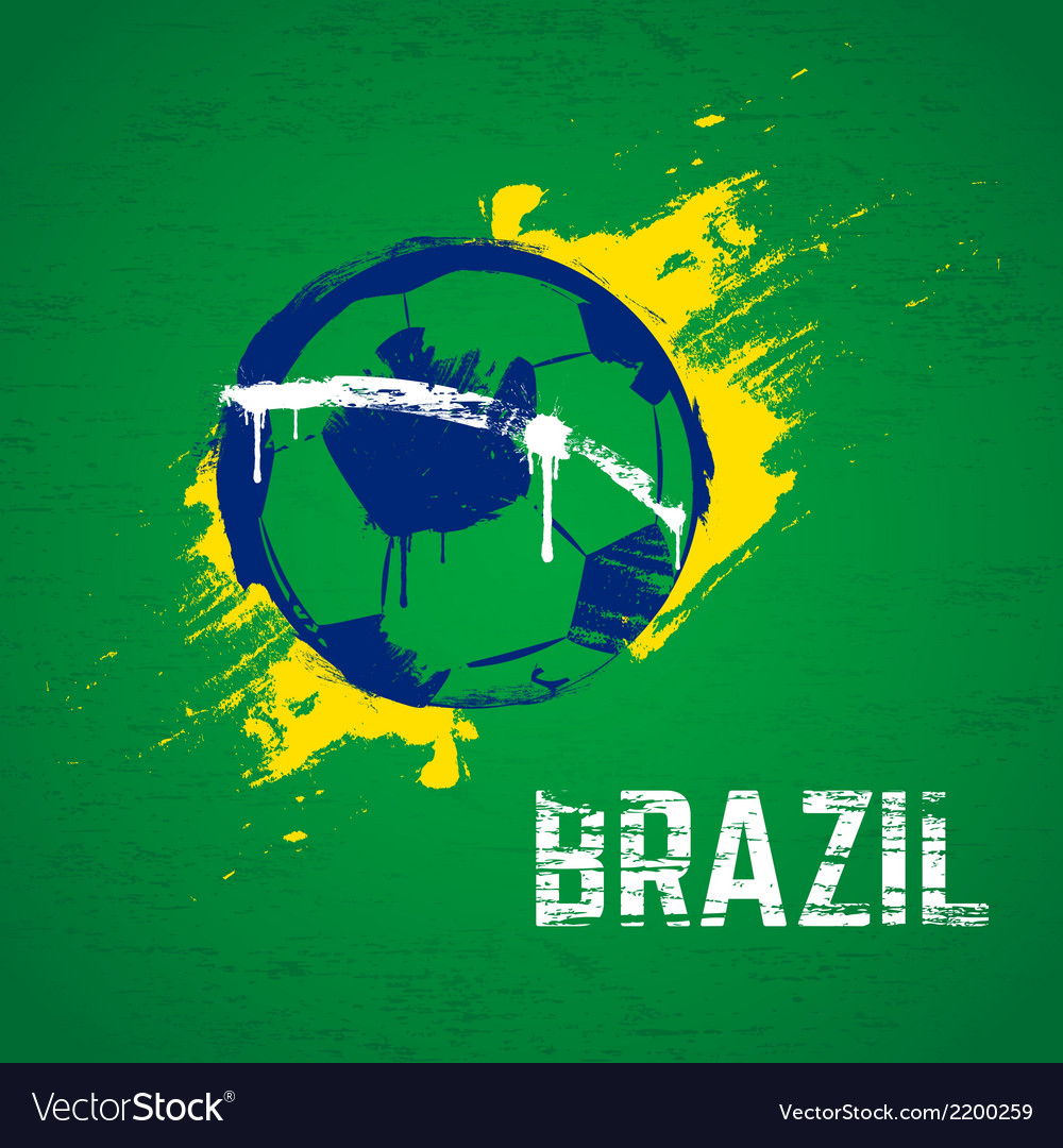 Brazil football background vector | Price: 1 Credit (USD $1)