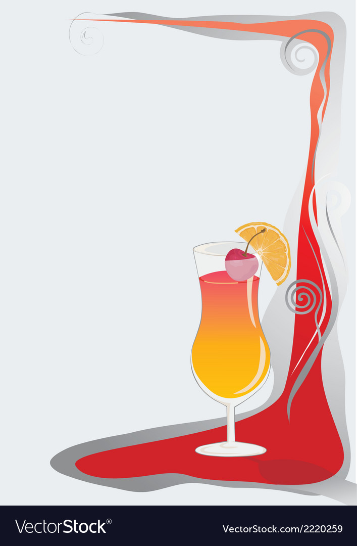 Cocktail card background vector | Price: 1 Credit (USD $1)