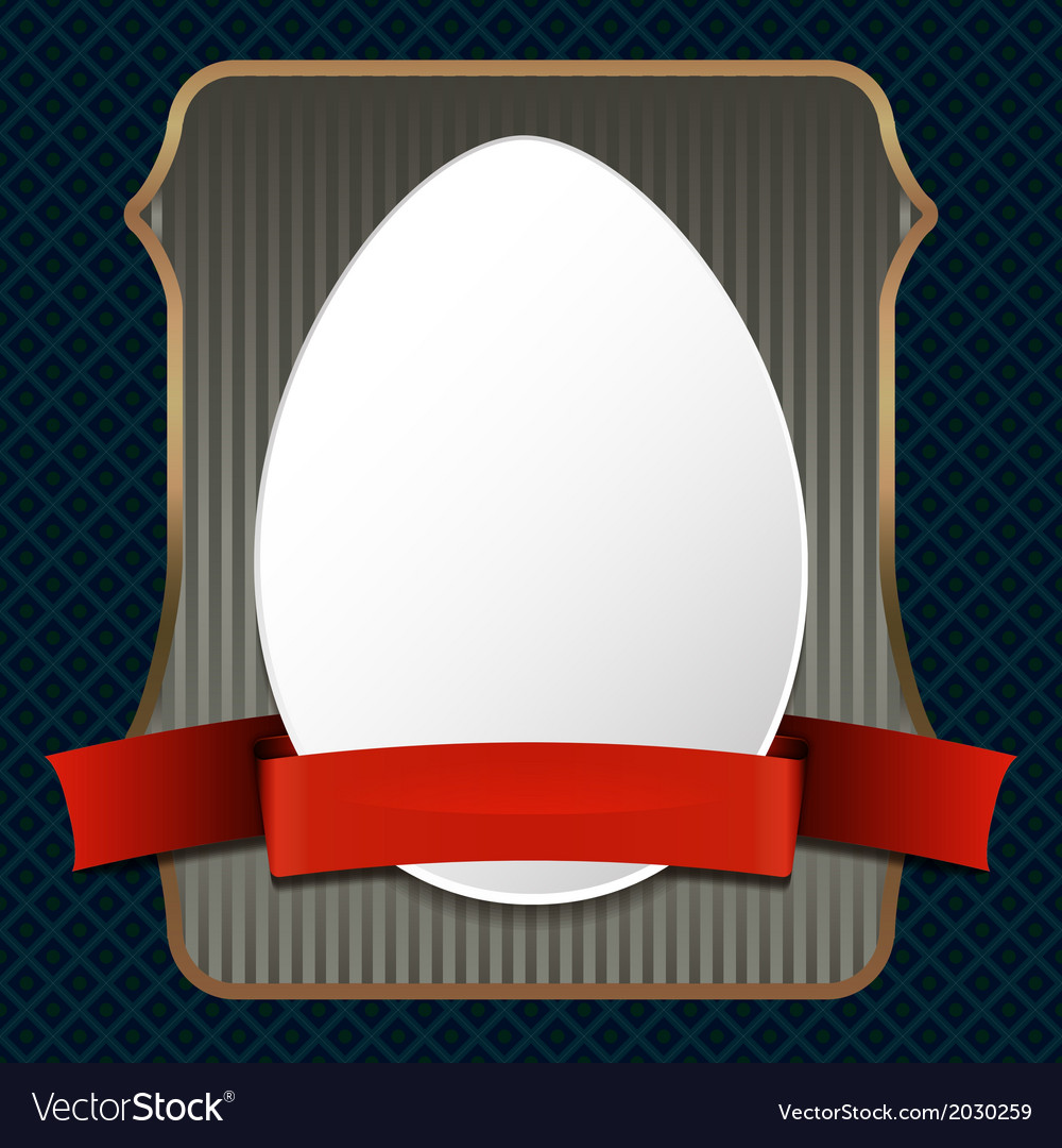 Easster egg on retro background vector | Price: 1 Credit (USD $1)