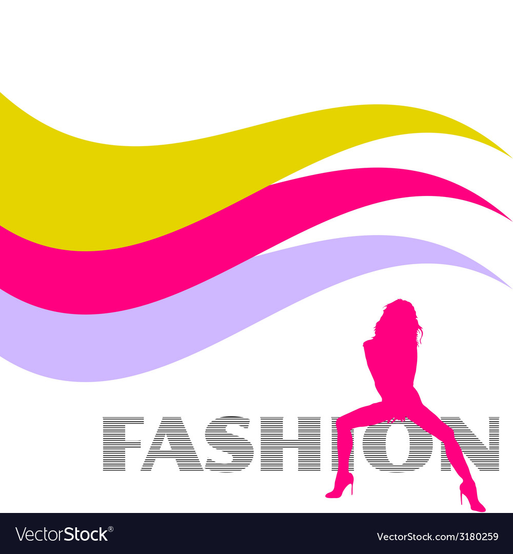 Fashion and sexy pink girl silhouette vector | Price: 1 Credit (USD $1)
