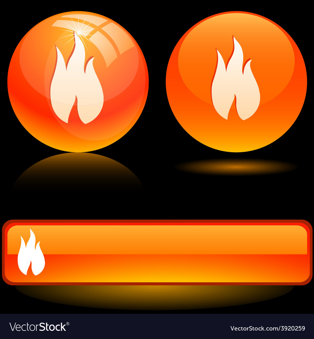 Flame icons vector   Price: 1 Credit (USD $1)