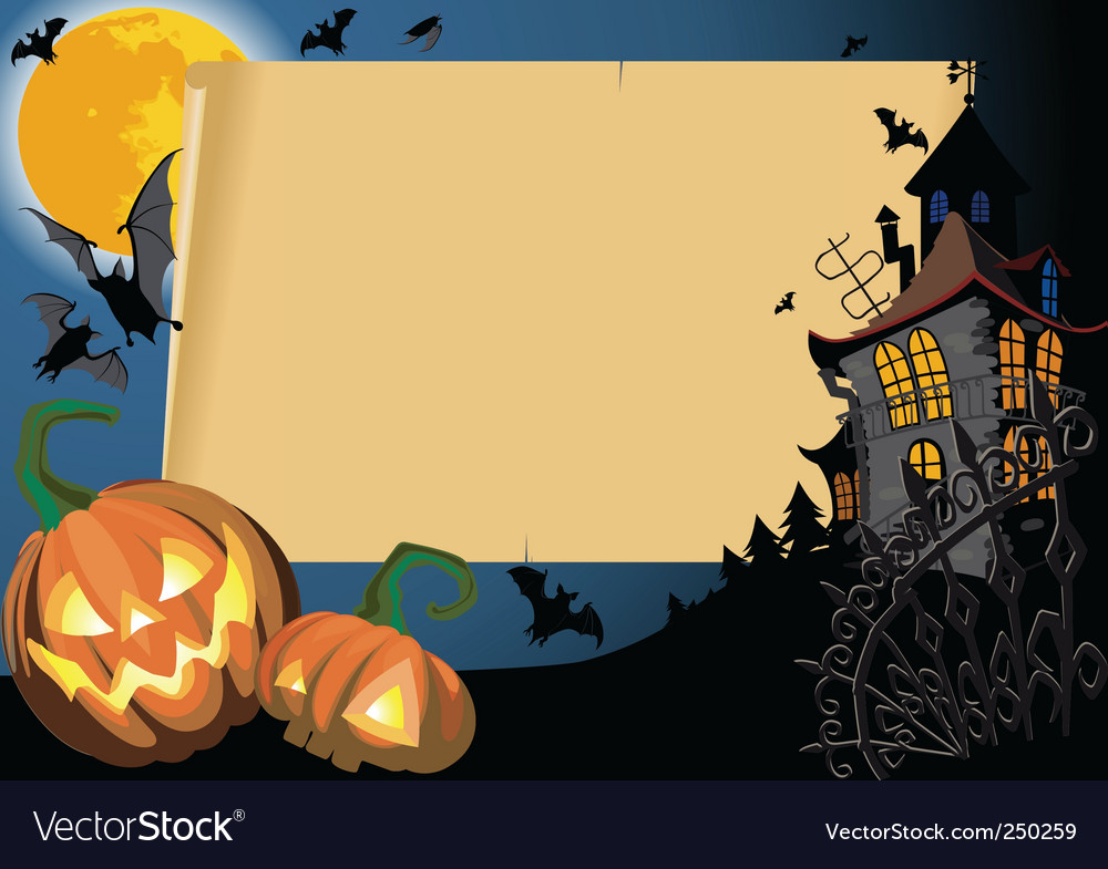 Halloween card vector | Price: 1 Credit (USD $1)