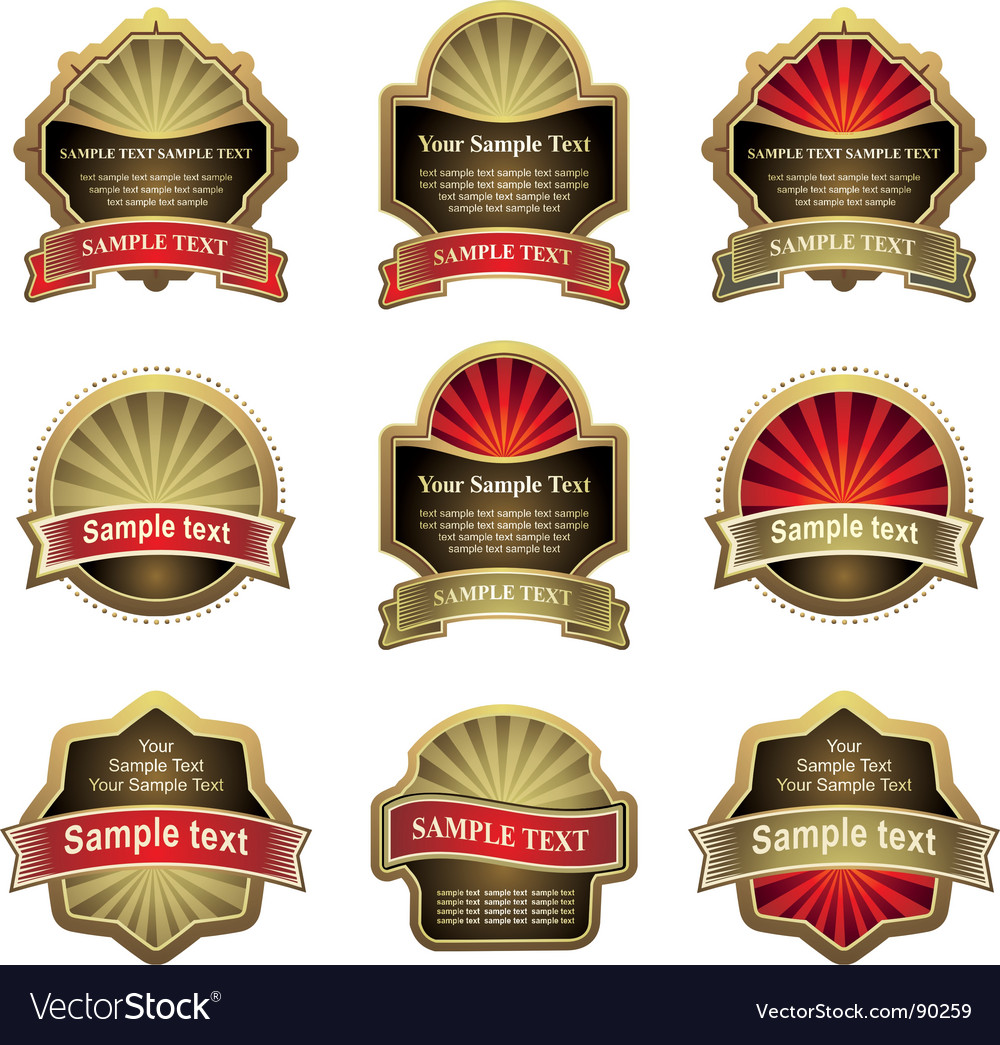 Label banner vector | Price: 1 Credit (USD $1)