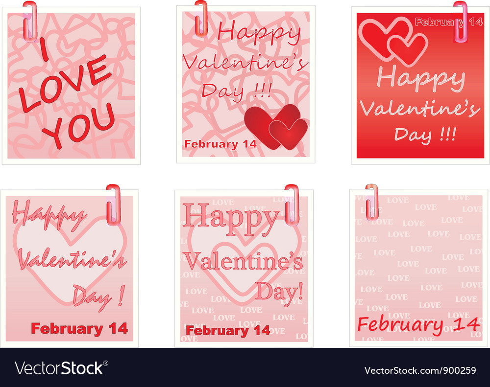 Notes for valentines day vector | Price: 1 Credit (USD $1)