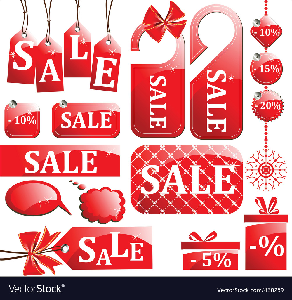 Retail sale tags vector | Price: 1 Credit (USD $1)