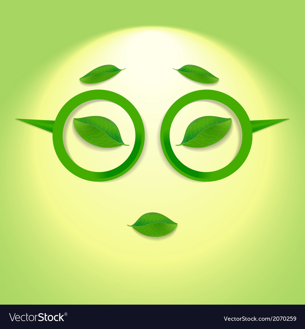 Sun face with glasses vector | Price: 1 Credit (USD $1)