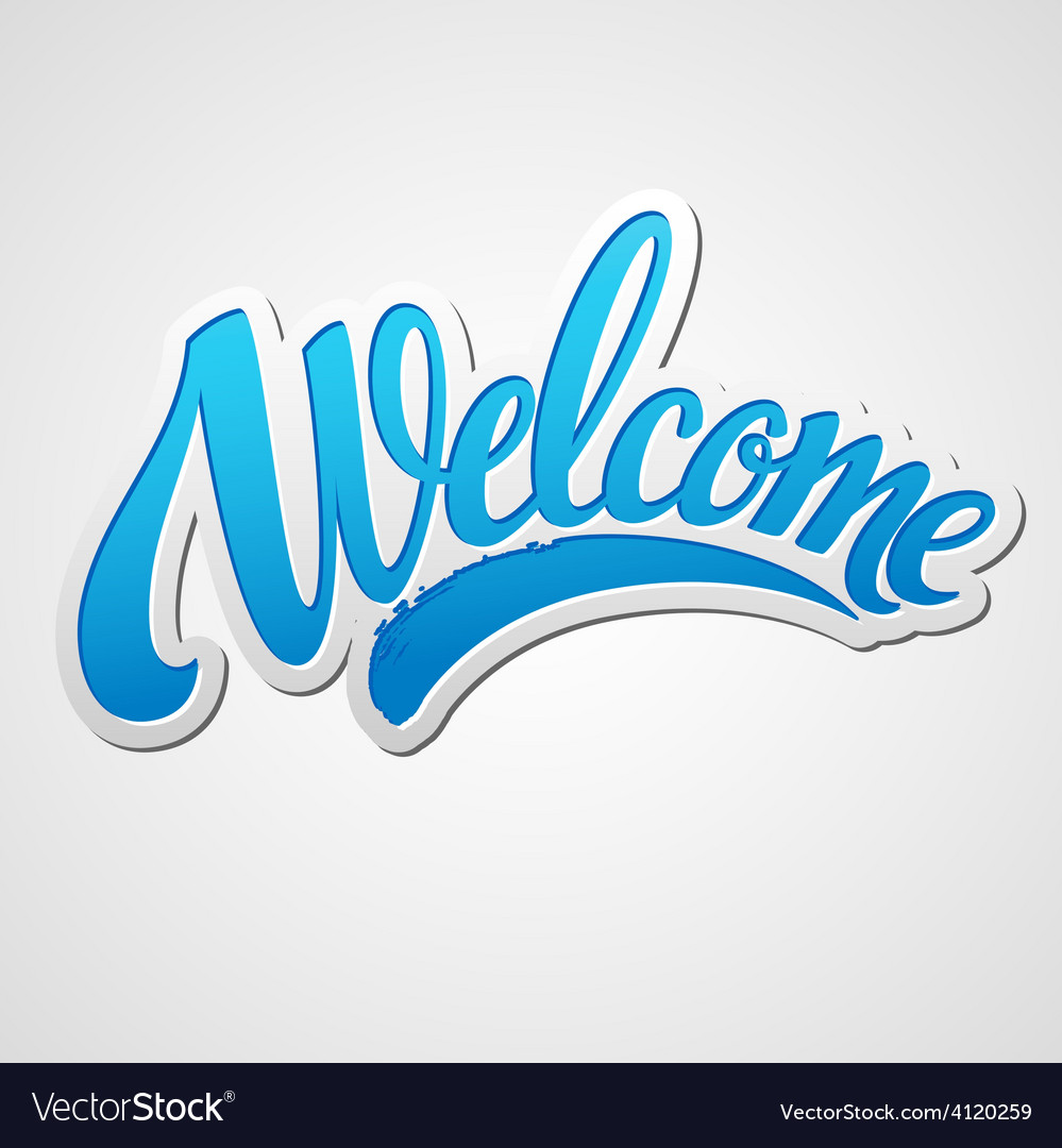 Welcome lettering vector | Price: 3 Credit (USD $3)