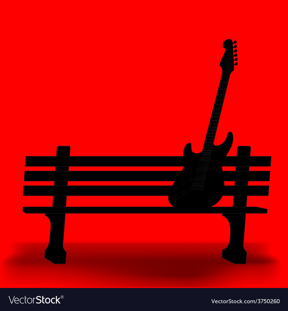 Bench guitar 1 vector | Price: 1 Credit (USD $1)