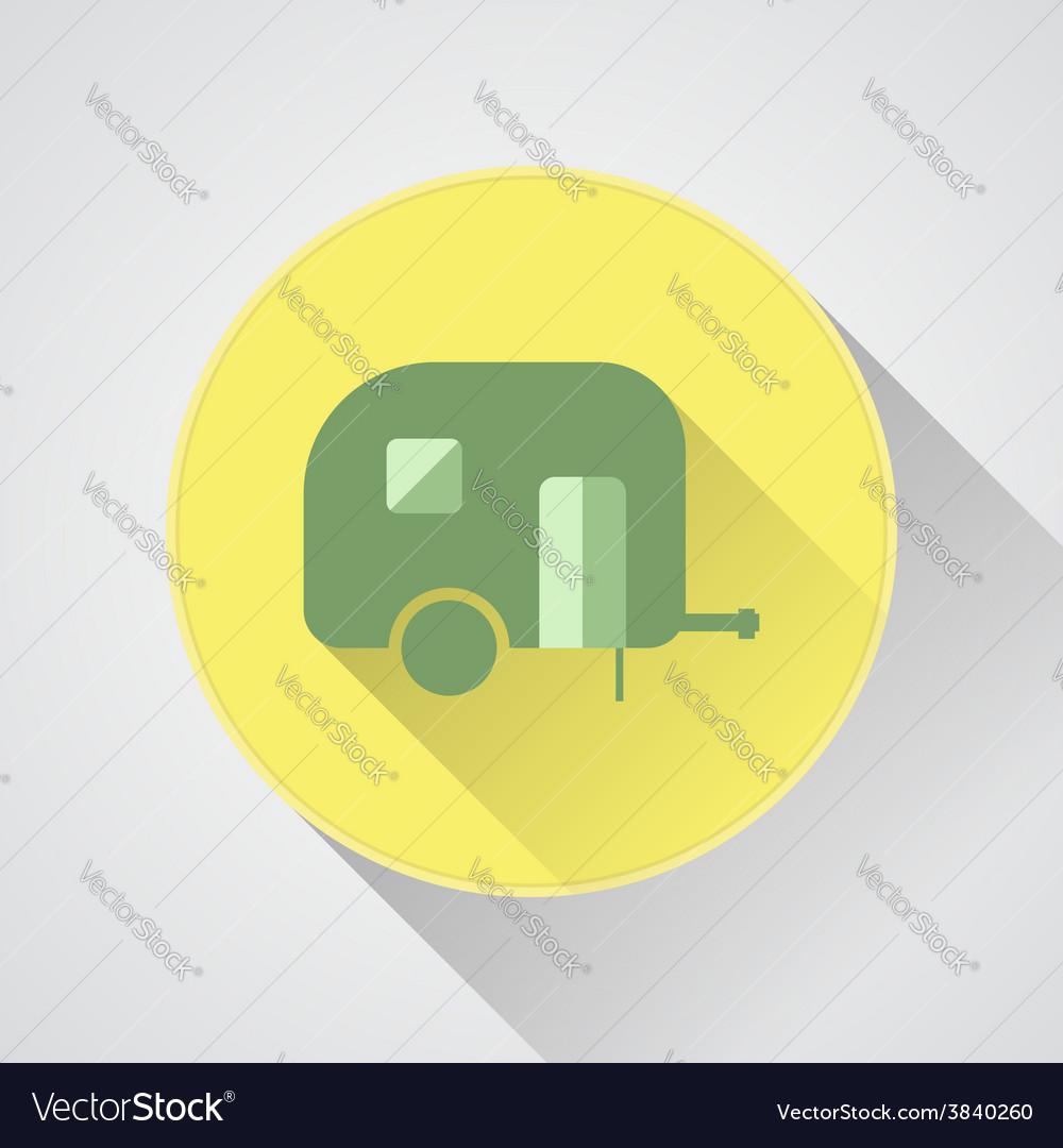 Camping trailer icon caravan vector | Price: 1 Credit (USD $1)