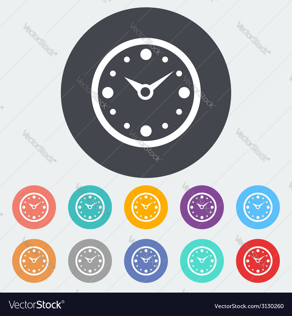 Clock flat icon vector | Price: 1 Credit (USD $1)
