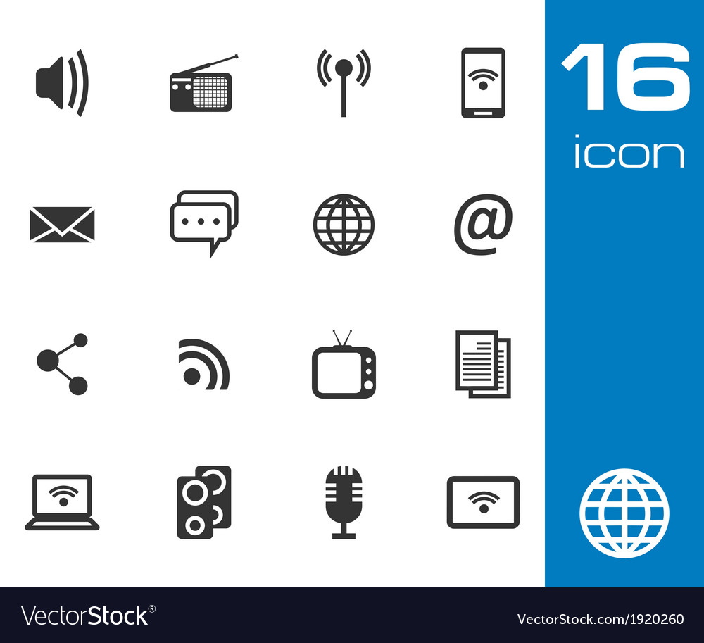 Communication and media icon vector | Price: 1 Credit (USD $1)