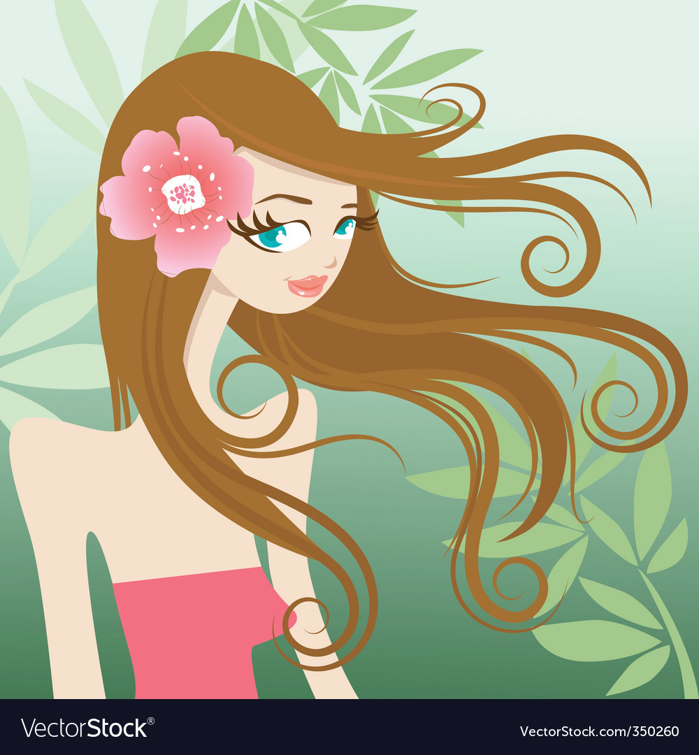 Cute girl character vector | Price: 3 Credit (USD $3)