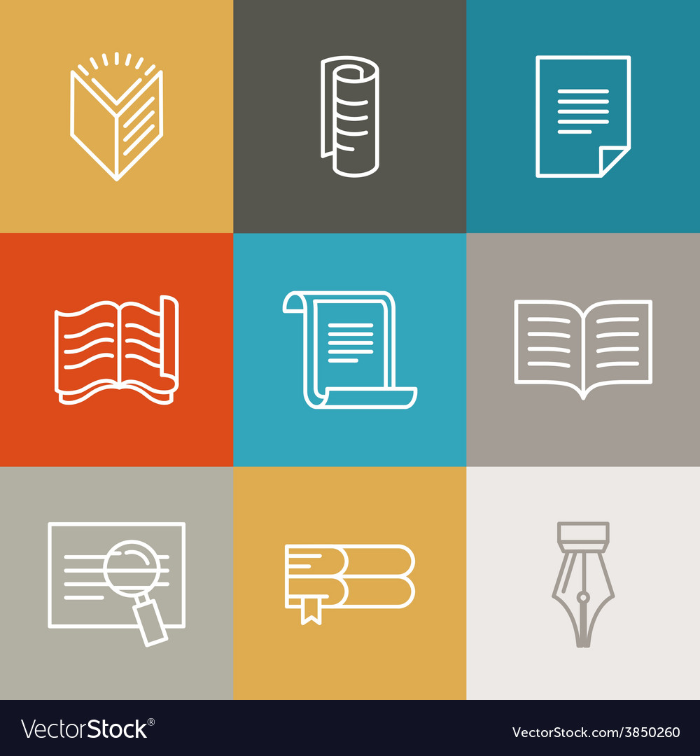 Document and paper signs and icons vector | Price: 1 Credit (USD $1)