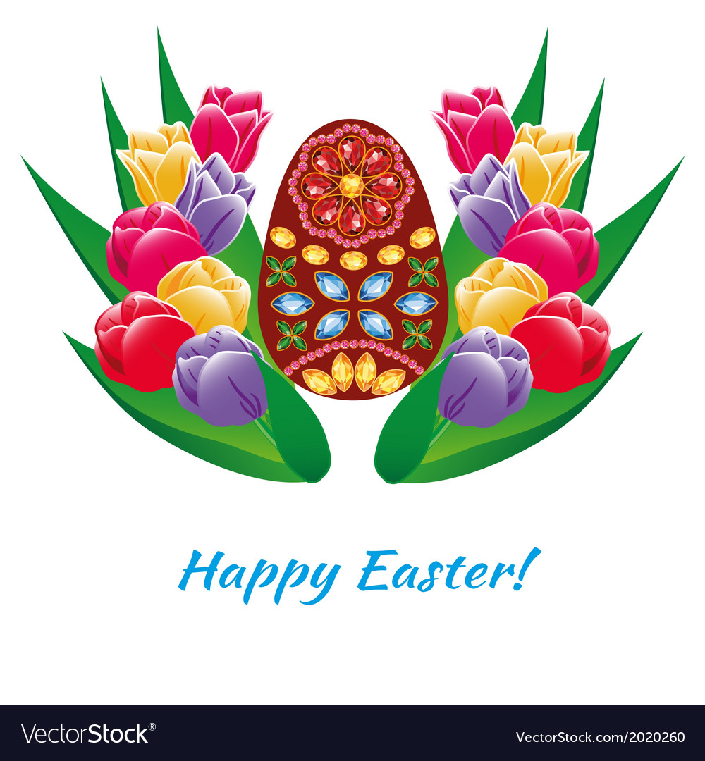 Easter egg card with text vector   Price: 1 Credit (USD $1)