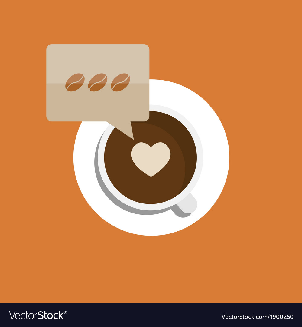 Flat modern coffee background eps 10 vector | Price: 1 Credit (USD $1)