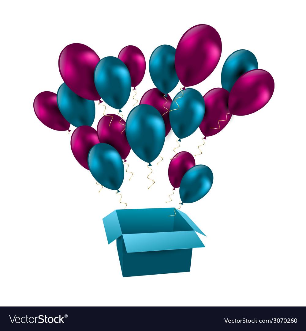 For happy birthday balloons vector | Price: 1 Credit (USD $1)