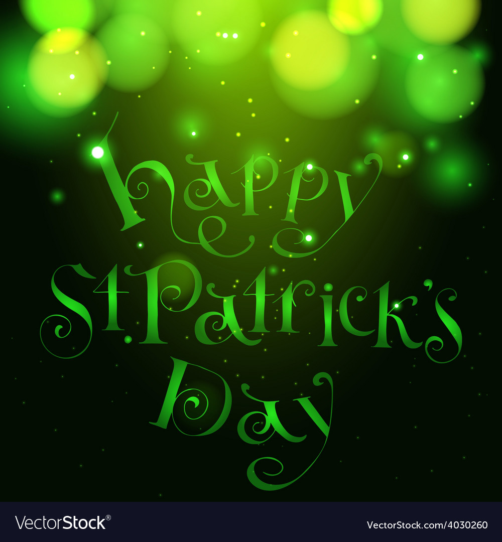 Happy patrick day vintage hand lettering greeting vector | Price: 1 Credit (USD $1)