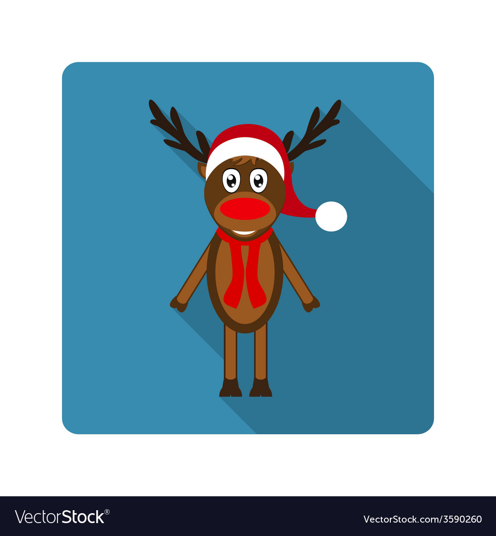 Icon reindeer for flat design vector | Price: 1 Credit (USD $1)
