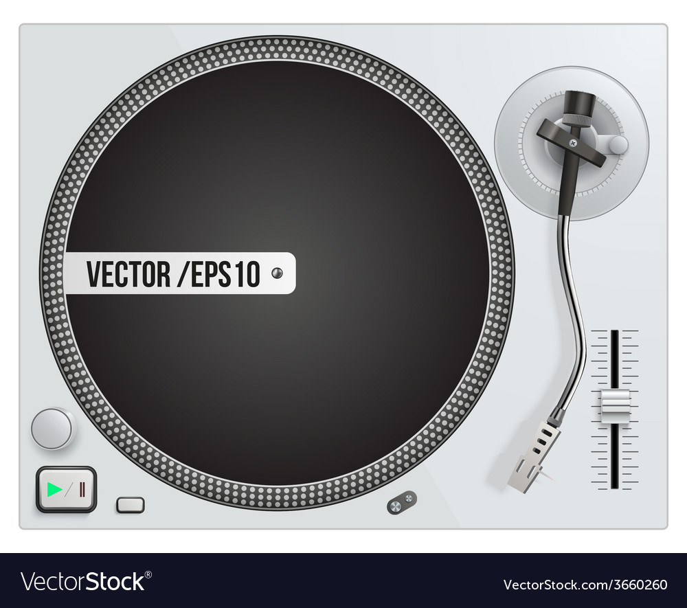 Modern white turntable vector | Price: 1 Credit (USD $1)