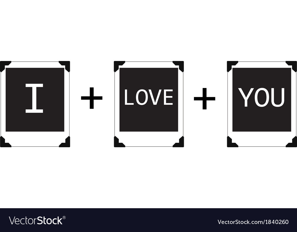 Polaroid i love you vector | Price: 1 Credit (USD $1)
