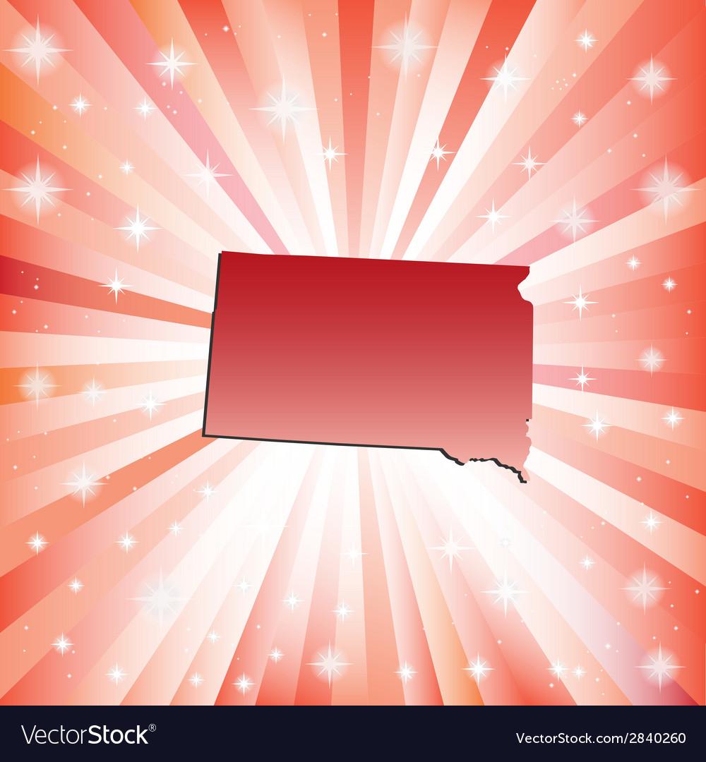 Red south dakota vector | Price: 1 Credit (USD $1)