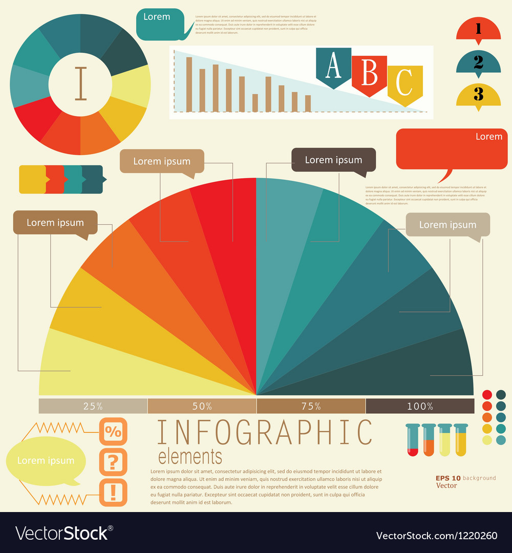 Set of infographic elements design template vector | Price: 1 Credit (USD $1)
