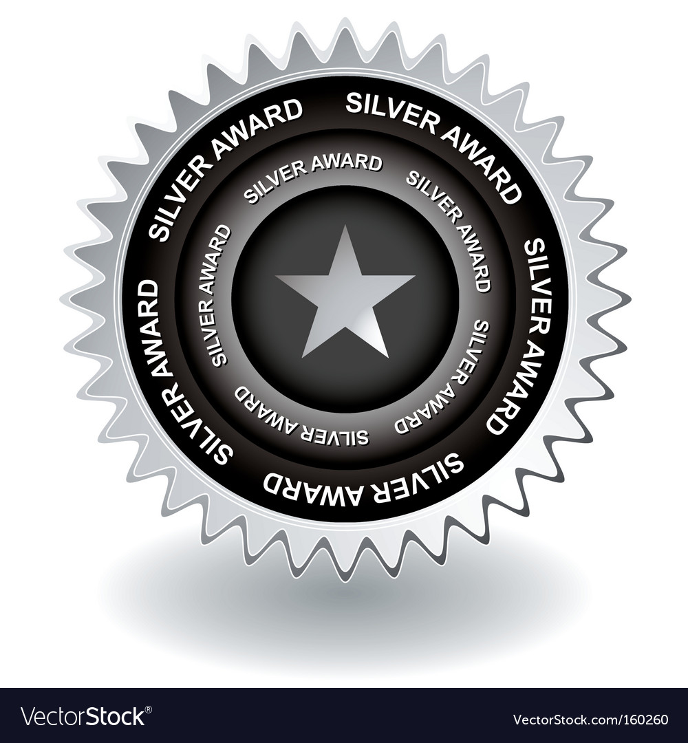 Silver award icon vector | Price: 1 Credit (USD $1)