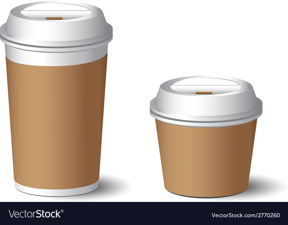 White paper cup 2 vector | Price: 1 Credit (USD $1)