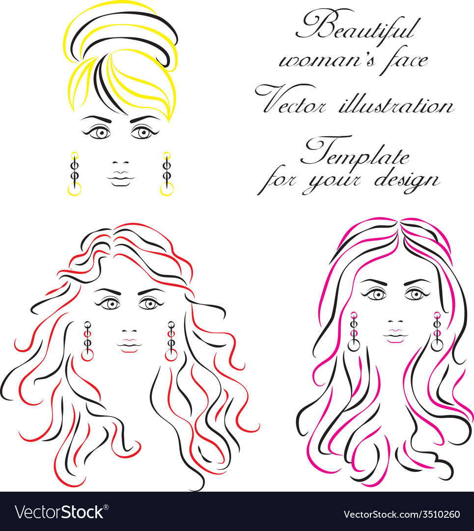 Womans face  template for your design vector | Price: 1 Credit (USD $1)