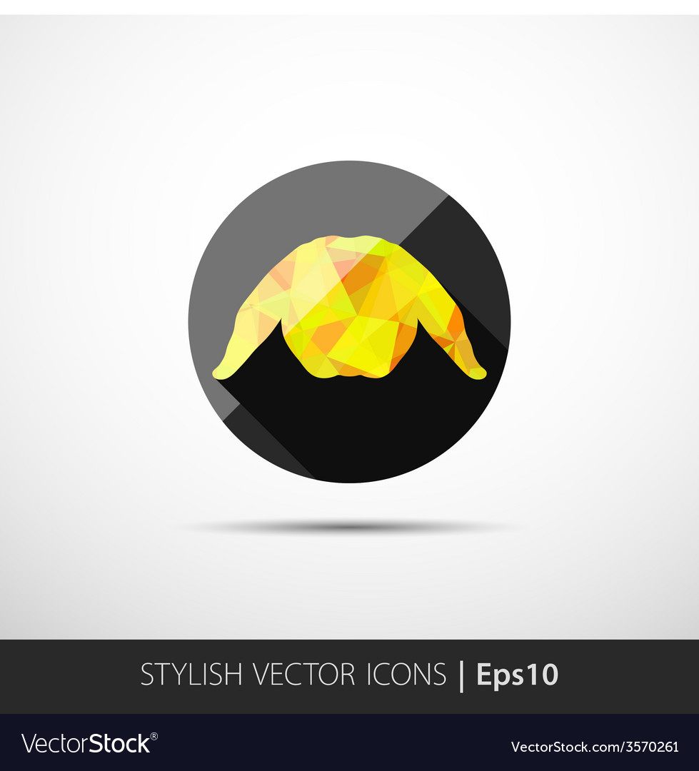 Abstract rabbit low polygonal vector | Price: 1 Credit (USD $1)