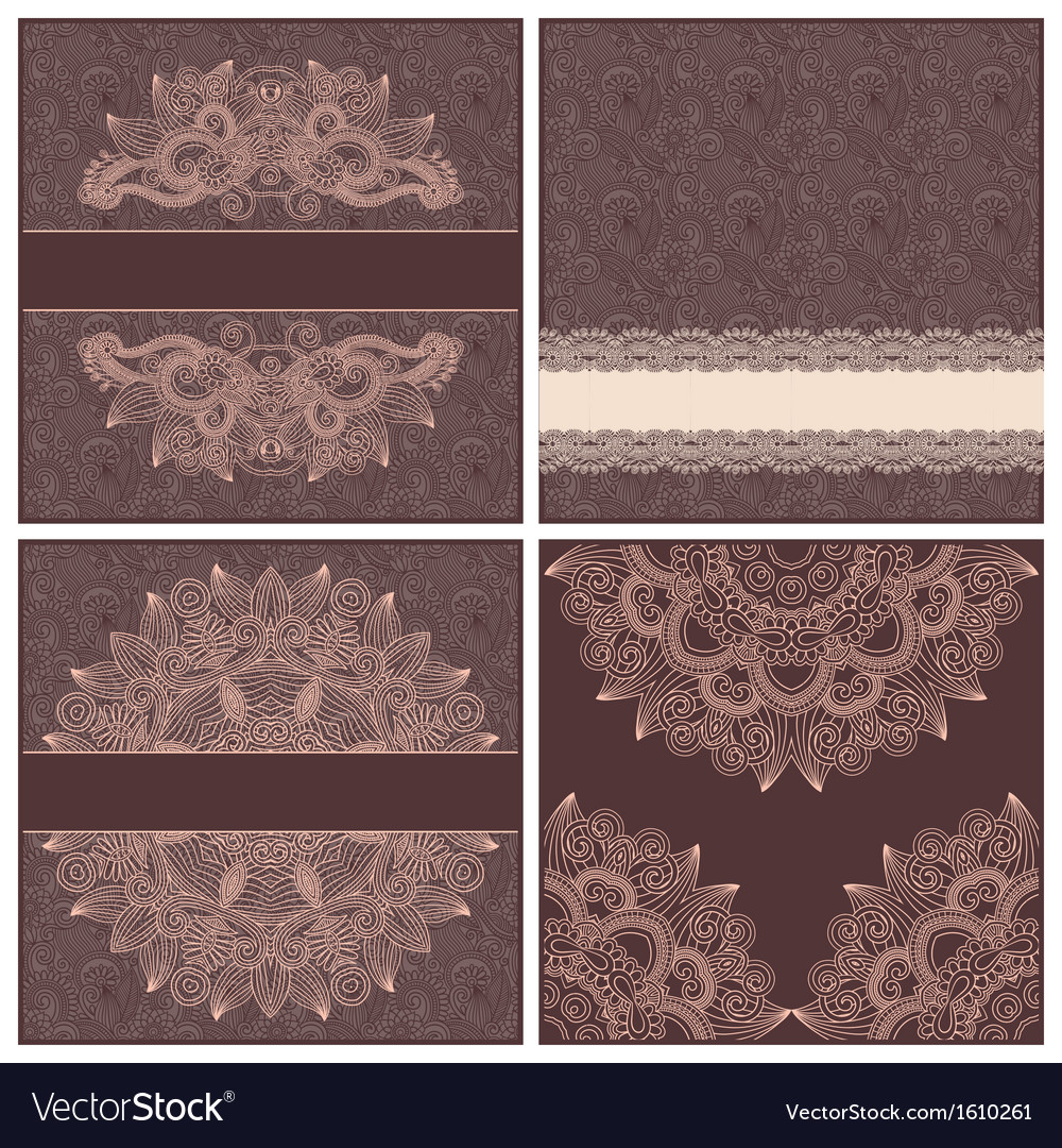 Collection of ornamental floral template vector | Price: 1 Credit (USD $1)