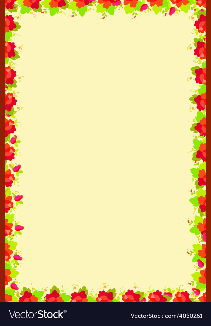 Floral frame flower vector | Price: 1 Credit (USD $1)