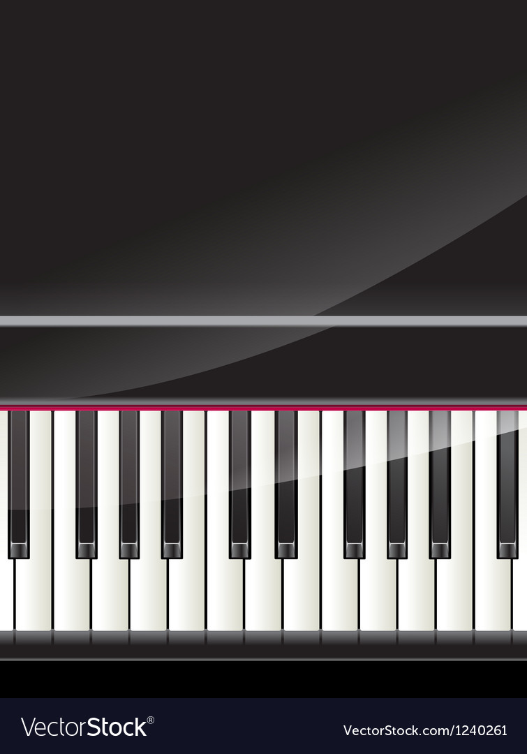 Grand piano keys background vector | Price: 1 Credit (USD $1)