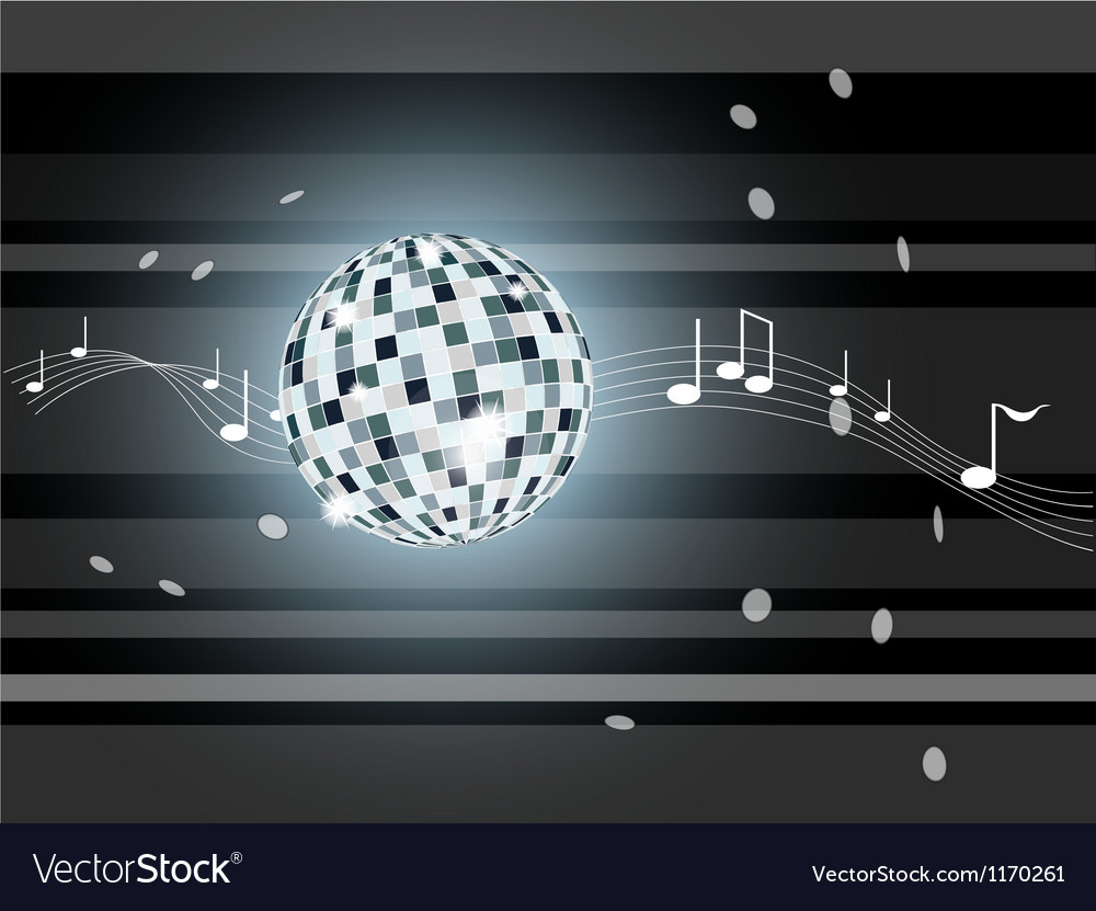 Gray background with mirror ball vector | Price: 1 Credit (USD $1)